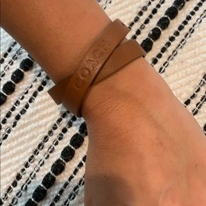 Leather Coach Bracelet